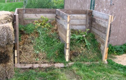Wooden Compost Pile