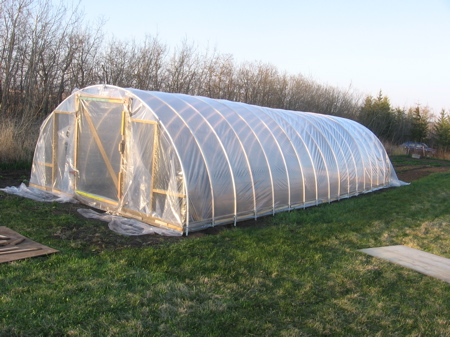 The finished greenhouse