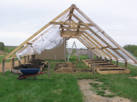 how to build a timber frame greenhouse