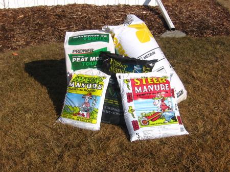 Square Foot Garden Ingredients