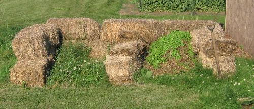 Straw Bale Compost Pile