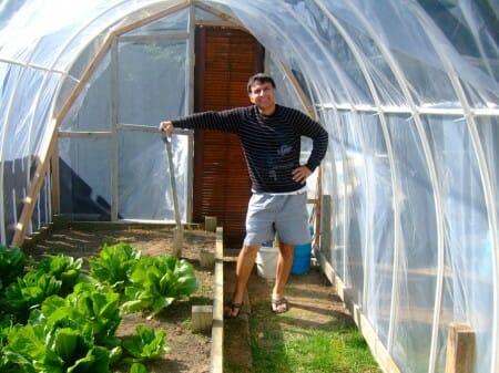 Hoop Frame Greenhouse in New Zealand