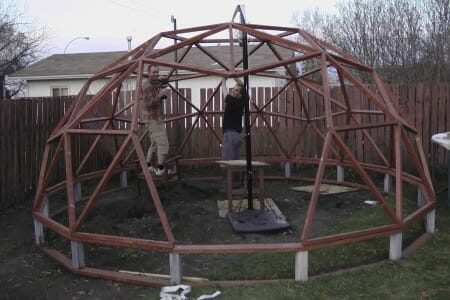 Building a Geodome Greenhouse